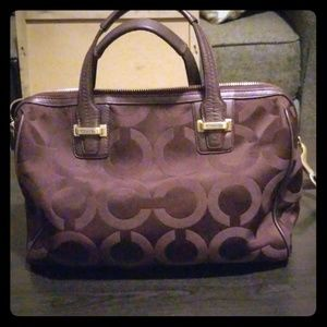 Dark Purple Coach Purse